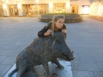 Me and the famous Warthog statue in Munich