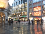 Beautiful lights of a rainy Munich evening