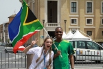 Found a fellow South African while exploring the Vatican City!