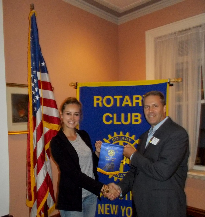 Meeting with The Rotary Club of Wall Street