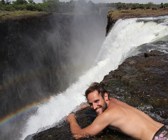 """The """"Devil's Pool"""" at Victoria Falls, Africa"""