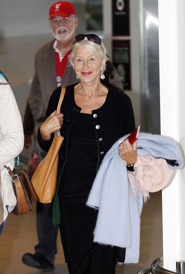 Helen Mirren in Cape Town
