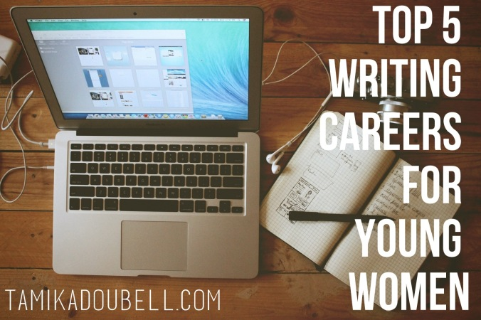 top 5 writing careers for young women