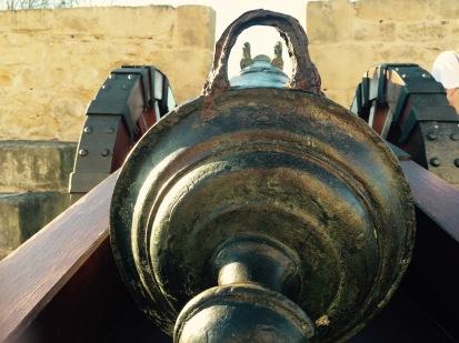 Touching Napoleon's old canon inSpain